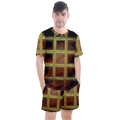 Drawing Of A Color Fractal Window Men s Mesh Tee And Shorts Set by Jojostore