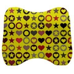 Heart Circle Star Seamless Pattern Velour Head Support Cushion by Jojostore