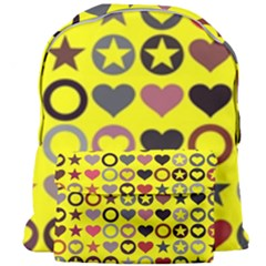 Heart Circle Star Seamless Pattern Giant Full Print Backpack by Jojostore