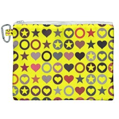 Heart Circle Star Seamless Pattern Canvas Cosmetic Bag (xxl) by Jojostore