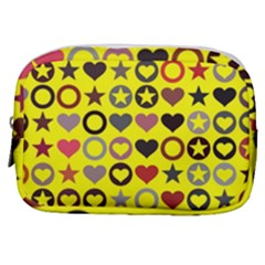 Heart Circle Star Seamless Pattern Make Up Pouch (small) by Jojostore