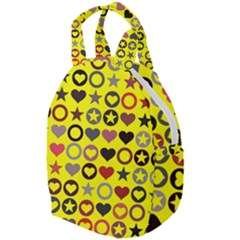 Heart Circle Star Seamless Pattern Travel Backpacks by Jojostore
