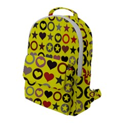 Heart Circle Star Seamless Pattern Flap Pocket Backpack (large)