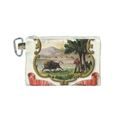 Historical Coat Of Arms Of Indiana Canvas Cosmetic Bag (small) by abbeyz71