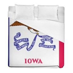 Flag Map Of Iowa Duvet Cover (full/ Double Size) by abbeyz71