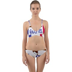 Flag Map Of Iowa Wrap Around Bikini Set
