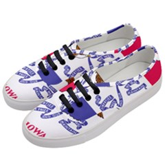 Flag Map Of Iowa Women s Classic Low Top Sneakers by abbeyz71