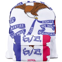 Flag Map Of Iowa Giant Full Print Backpack