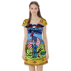 Great Seal Of Iowa Short Sleeve Skater Dress