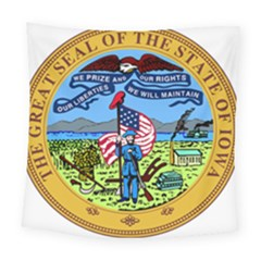 Great Seal Of Iowa Square Tapestry (large) by abbeyz71