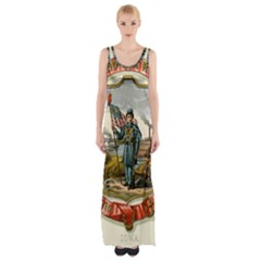 Historical Coat Of Arms Of Iowa Maxi Thigh Split Dress