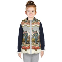 Historical Coat Of Arms Of Iowa Kid s Hooded Puffer Vest