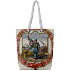 Historical Coat Of Arms Of Iowa Full Print Rope Handle Tote (small) by abbeyz71