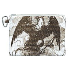 Coat Of Arms Of Iowa, 1861 1865 Canvas Cosmetic Bag (xl) by abbeyz71