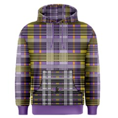 Playing With Plaid Kitten (purple) Halloween Pattern Men s Pullover Hoodie