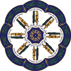 Great Seal Of Kentucky Hook Handle Umbrellas (large) by abbeyz71