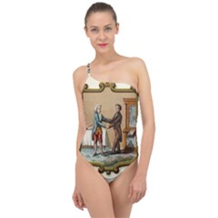 Historical Coat Of Arms Of Kentucky Classic One Shoulder Swimsuit