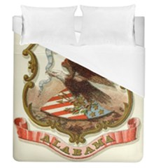 Historical Coat Of Arms Of Alabama Duvet Cover (queen Size) by abbeyz71