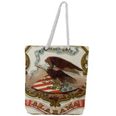 Historical Coat Of Arms Of Alabama Full Print Rope Handle Tote (large)