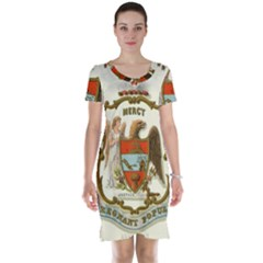 Historical Coat Of Arms Of Arkansas Short Sleeve Nightdress