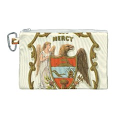 Historical Coat Of Arms Of Arkansas Canvas Cosmetic Bag (large) by abbeyz71