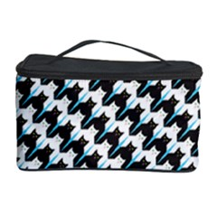 Massaging Kitties Houndstooth Pattern Cosmetic Storage