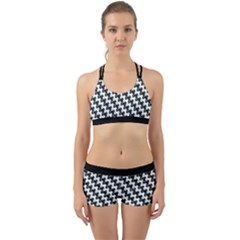 Massaging Kitties Houndstooth Pattern Back Web Gym Set by emilyzragz