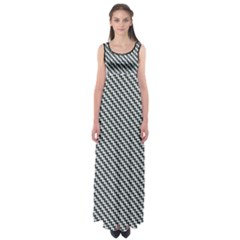 Massaging Kitties Houndstooth Pattern Empire Waist Maxi Dress