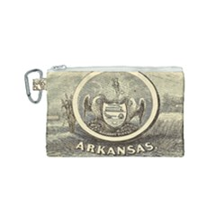 State Seal Of Arkansas, 1853 Canvas Cosmetic Bag (small) by abbeyz71