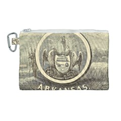 State Seal Of Arkansas, 1853 Canvas Cosmetic Bag (large) by abbeyz71