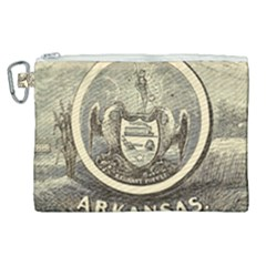 State Seal Of Arkansas, 1853 Canvas Cosmetic Bag (xl) by abbeyz71