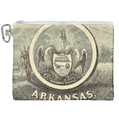 State Seal Of Arkansas, 1853 Canvas Cosmetic Bag (xxl) by abbeyz71