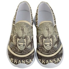 State Seal Of Arkansas, 1853 Men s Lightweight Slip Ons by abbeyz71