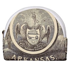 State Seal Of Arkansas, 1853 Horseshoe Style Canvas Pouch by abbeyz71