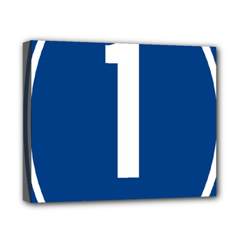 Guam Highway 1 Route Marker Canvas 10  X 8  (stretched) by abbeyz71