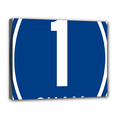 Guam Highway 1 Route Marker Canvas 14  X 11  (stretched) by abbeyz71