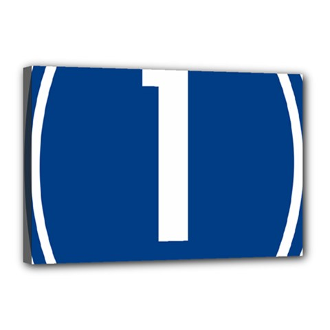 Guam Highway 1 Route Marker Canvas 18  X 12  (stretched)