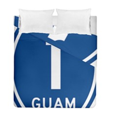 Guam Highway 1 Route Marker Duvet Cover Double Side (full/ Double Size)