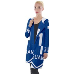 Guam Highway 1 Route Marker Hooded Pocket Cardigan by abbeyz71