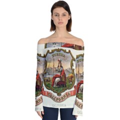 Historical Coat Of Arms Of California Off Shoulder Long Sleeve Top by abbeyz71