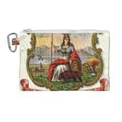Historical Coat Of Arms Of California Canvas Cosmetic Bag (large) by abbeyz71
