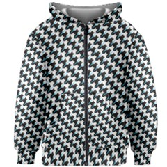Massaging Kitties Houndstooth Pattern Kids Zipper Hoodie Without Drawstring