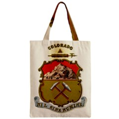 Historical Coat Of Arms Of Colorado Zipper Classic Tote Bag by abbeyz71