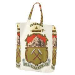 Historical Coat Of Arms Of Colorado Giant Grocery Tote