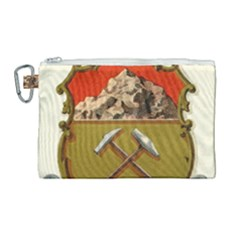 Historical Coat Of Arms Of Colorado Canvas Cosmetic Bag (large) by abbeyz71