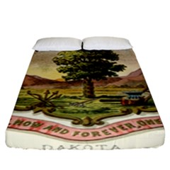 Historical Coat Of Arms Of Dakota Territory Fitted Sheet (king Size)