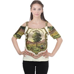 Historical Coat Of Arms Of Dakota Territory Cutout Shoulder Tee
