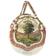 Historical Coat Of Arms Of Dakota Territory Giant Round Zipper Tote