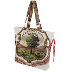 Historical Coat Of Arms Of Dakota Territory Drawstring Tote Bag by abbeyz71