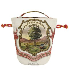 Historical Coat Of Arms Of Dakota Territory Drawstring Bucket Bag by abbeyz71